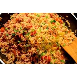 Καυτερό ρύζι με λουκάνικο