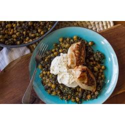 Ρεβίθια με σπανάκι και κοτόπουλο