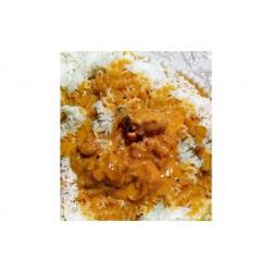 Curry με κοτόπουλο και ρύζι Basmati